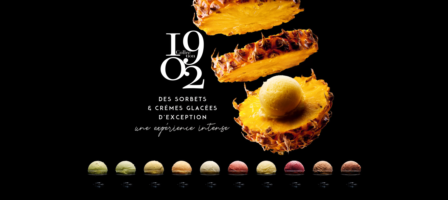 Collection 1902, une collection de sorbets et crèmes glacées Thiriet d'exception
