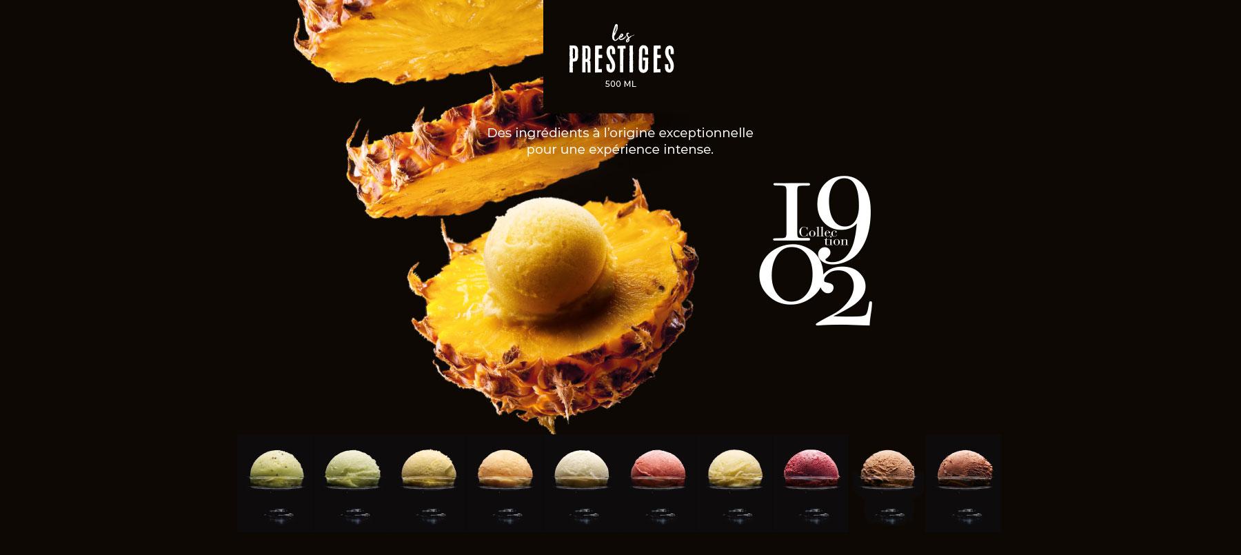 Les Prestiges, les glaces Collection 1902 de la Maison Thiriet