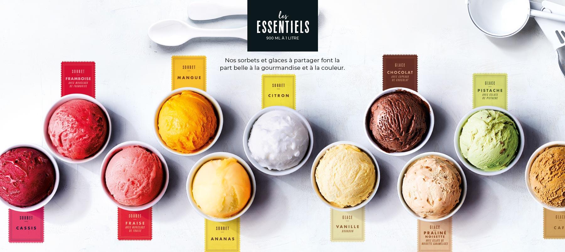 Les sorbets et glaces de la Maison Thiriet font la part belle à la gourmandise et à la couleur !