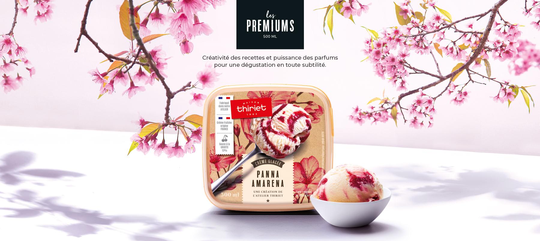 Créativité et puissance des recettes des glaces Premiums de la Maison Thiriet