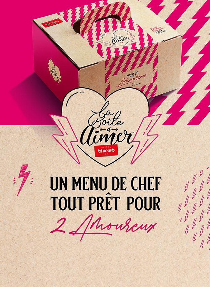 La Maison Thiriet vous a préparé un menu de chef pour 2 amoureux !