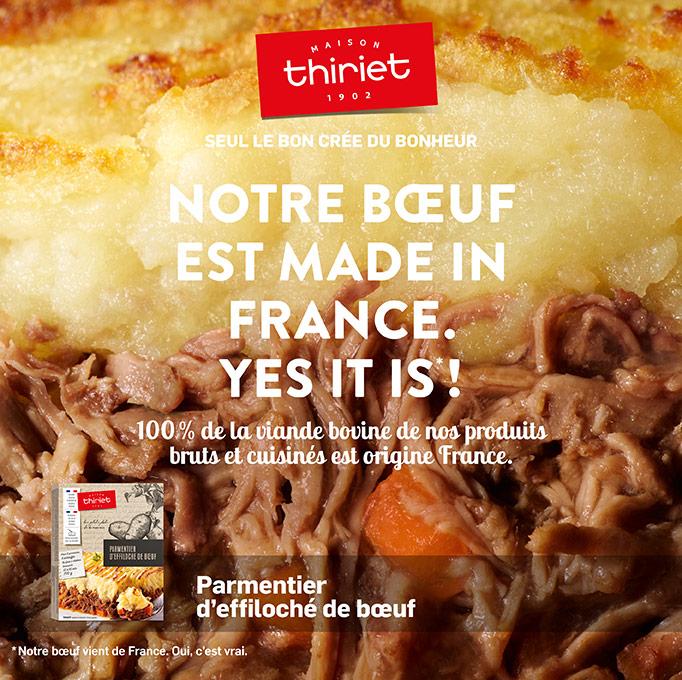 Le bœuf de la Maison Thiriet est made in France !