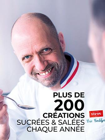 Plus de 200 créations sucrées et salées chaque année