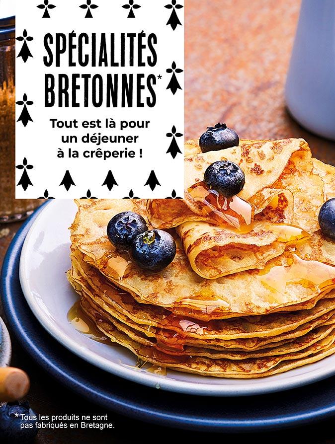 Les spécialités bretonnes sont chez la Maison Thiriet pour un déjeuner à la crêperie !