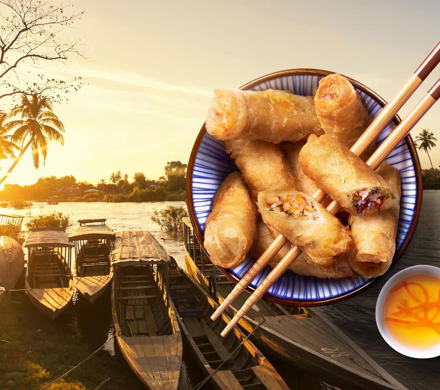 Déjeunez sur les rives du Mékong avec la Maison Thiriet !