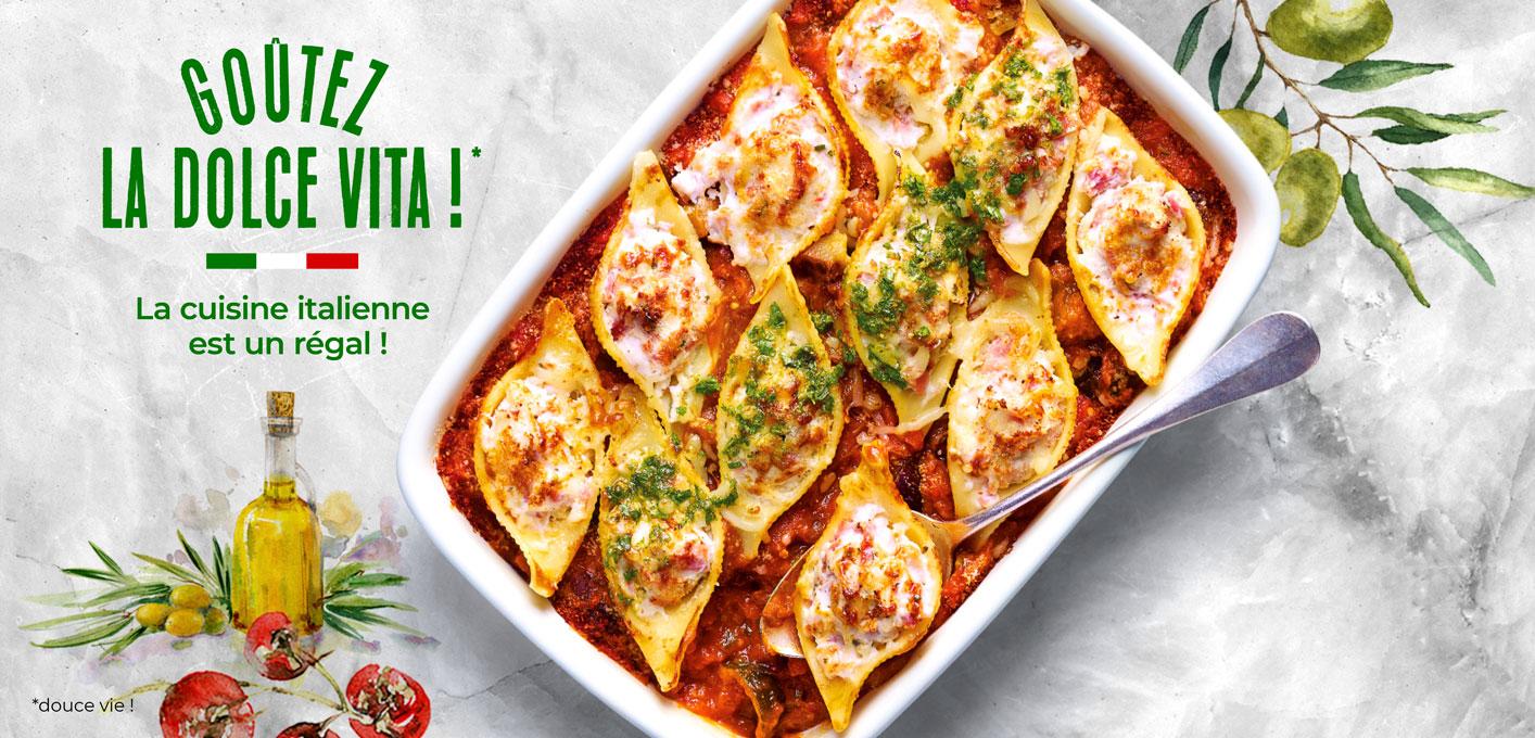 La cuisine italienne chez la Maison Thiriet c'est un régal !