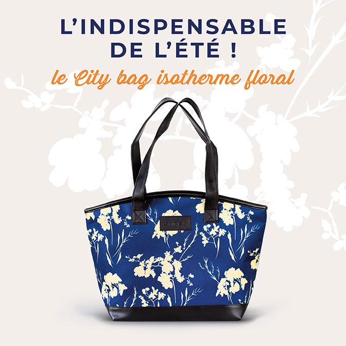 Retrouvez votre city bag isotherme floral de la Maison Thiriet !
