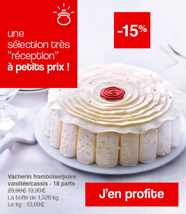 Vacherin framboise/poire vanillée/cassis