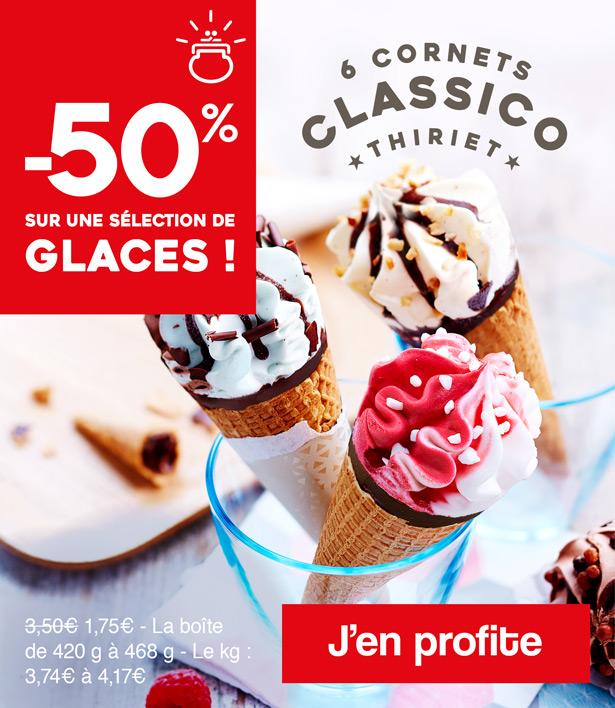Une sélection de glaces à -50% !