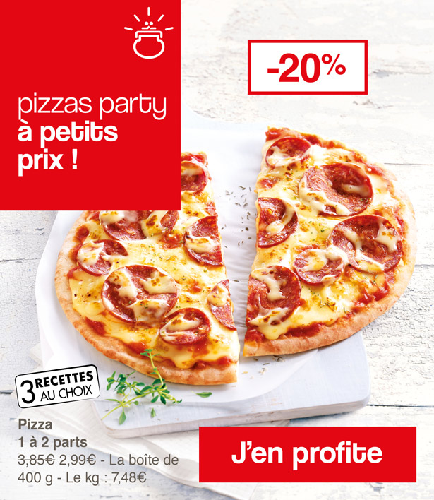 Pizza party à petit prix !