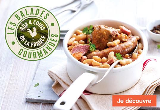 Les balades gourmandes aux 4 coins de la France