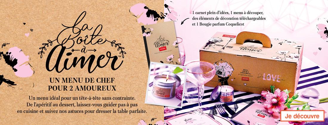 Un menu de chef pour 2 amoureux vous attend dans la Boîte à Aimer™ de la Maison Thiriet, une idée en or pour la Saint Valentin