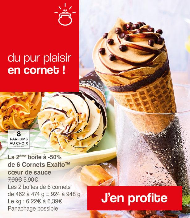 du pur plaisir en cornet avec les glaces en promotion Maison Thiriet !