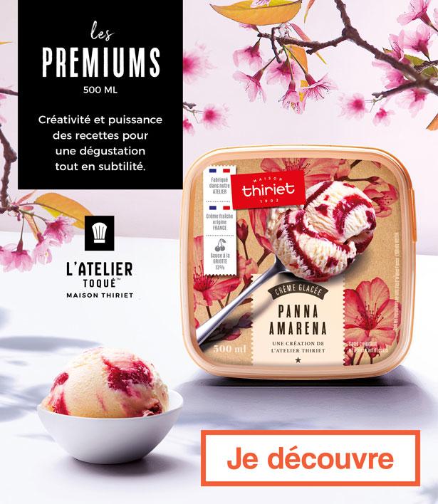 Les glaces premiums de Maison Thririet