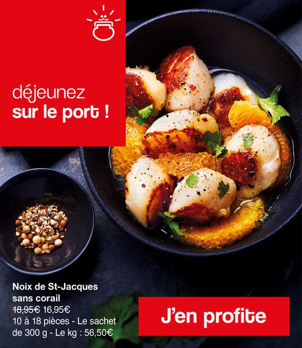 Les noix de Saint-Jacques de Maison Thiriet sont toutes fraîches !
