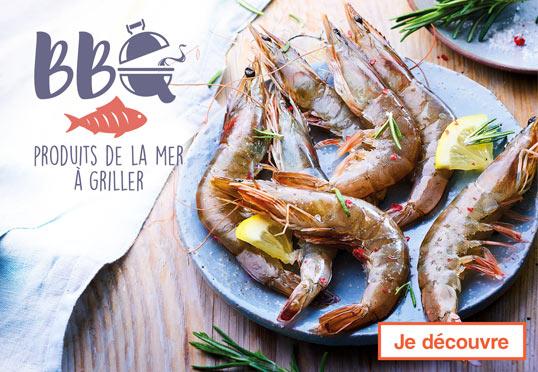La sélection de produits de la mer à griller Maison Thiriet