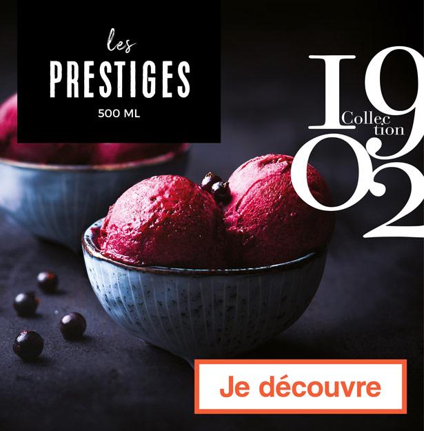 Les glaces Prestiges,  Collection 1902 de la Maison Thiriet