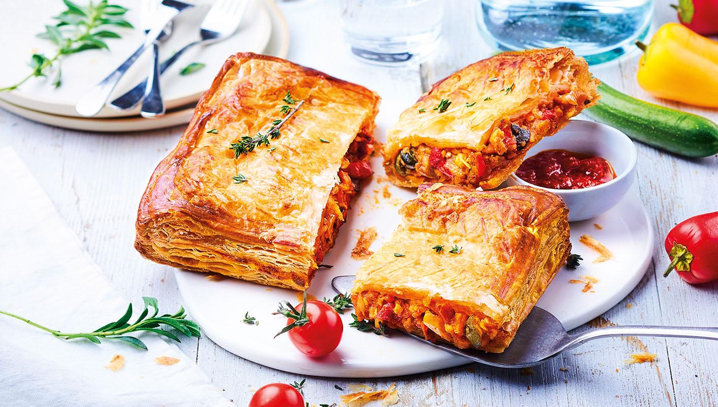 Feuilleté légumes du soleil/mozzarella