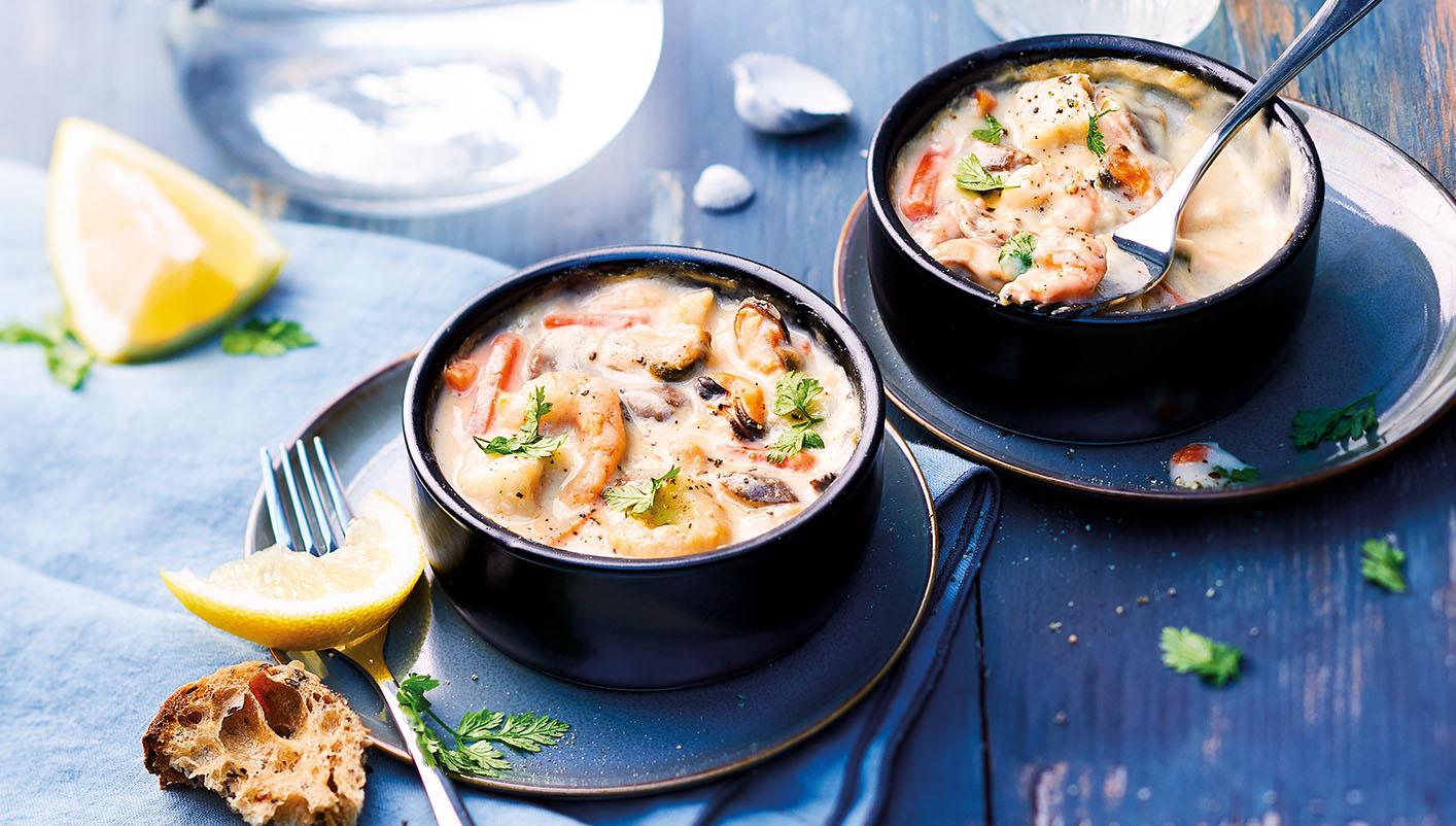 2 Cassolettes aux fruits de mer, sauce au Sancerre