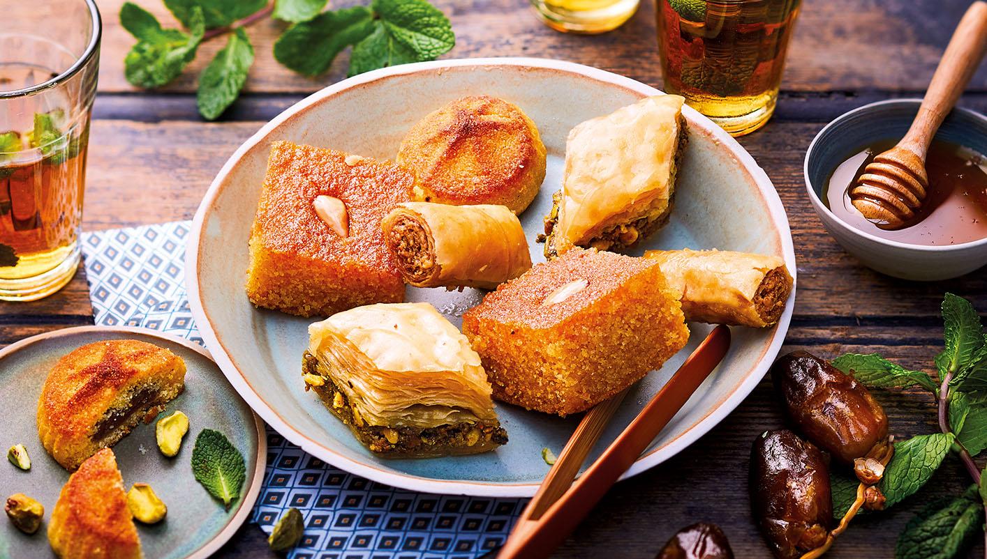 Assortiment de pâtisseries libanaises