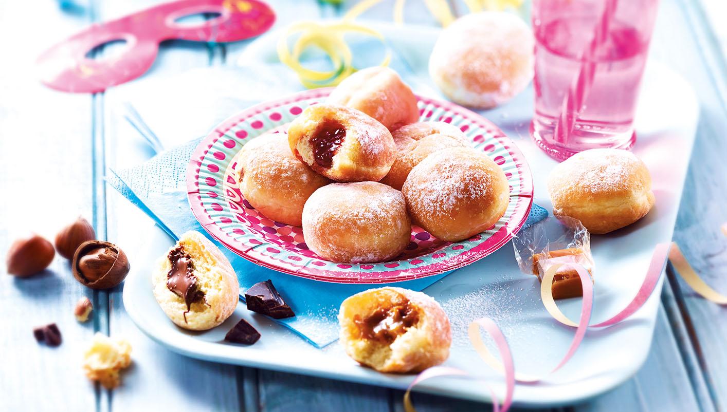 8 Mini beignets fourrés chocolat noisette