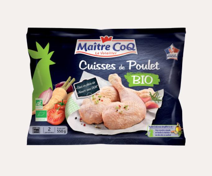 2 Cuisses de poulet fermier biologique