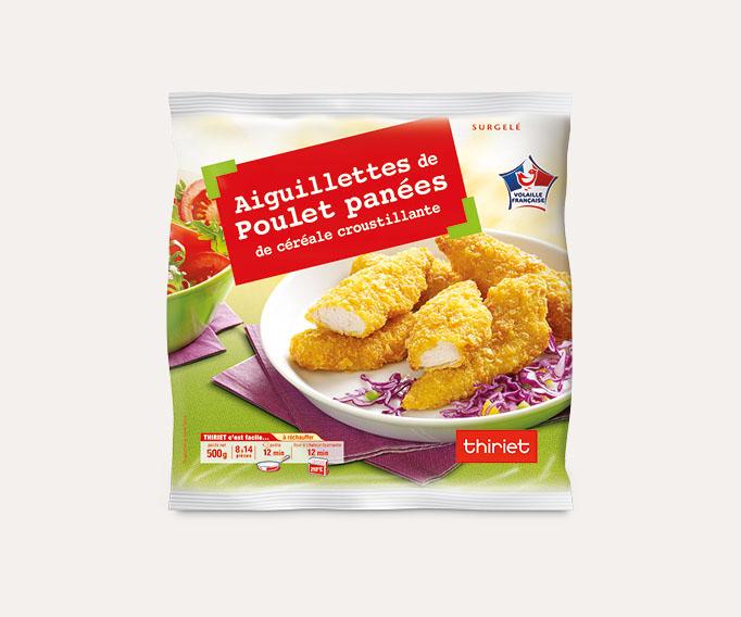 Aiguillettes de poulet panées