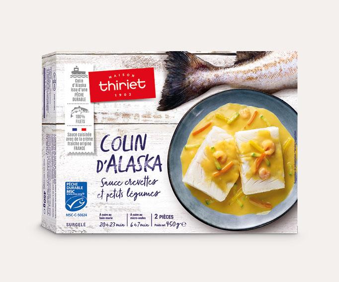 Colin d'Alaska sauce crevettes et petits légumes