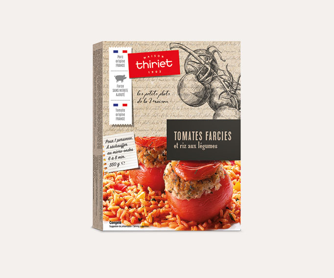 Tomates farcies et riz aux légumes