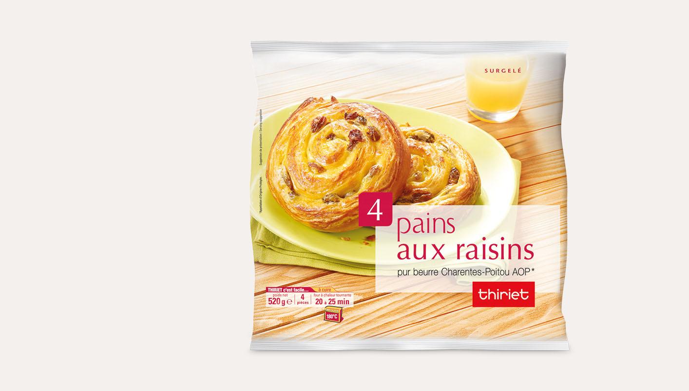 4 Pains aux raisins - pur beurre Charentes-Poitou AOP*