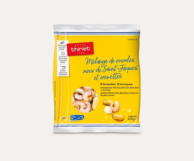 Mélange de moules, noix de St-Jacques et crevettes