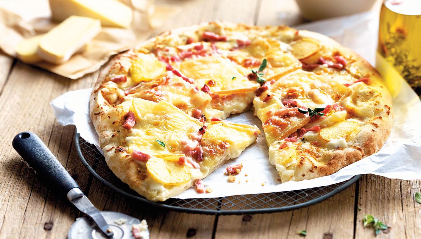 Pizza façon tartiflette