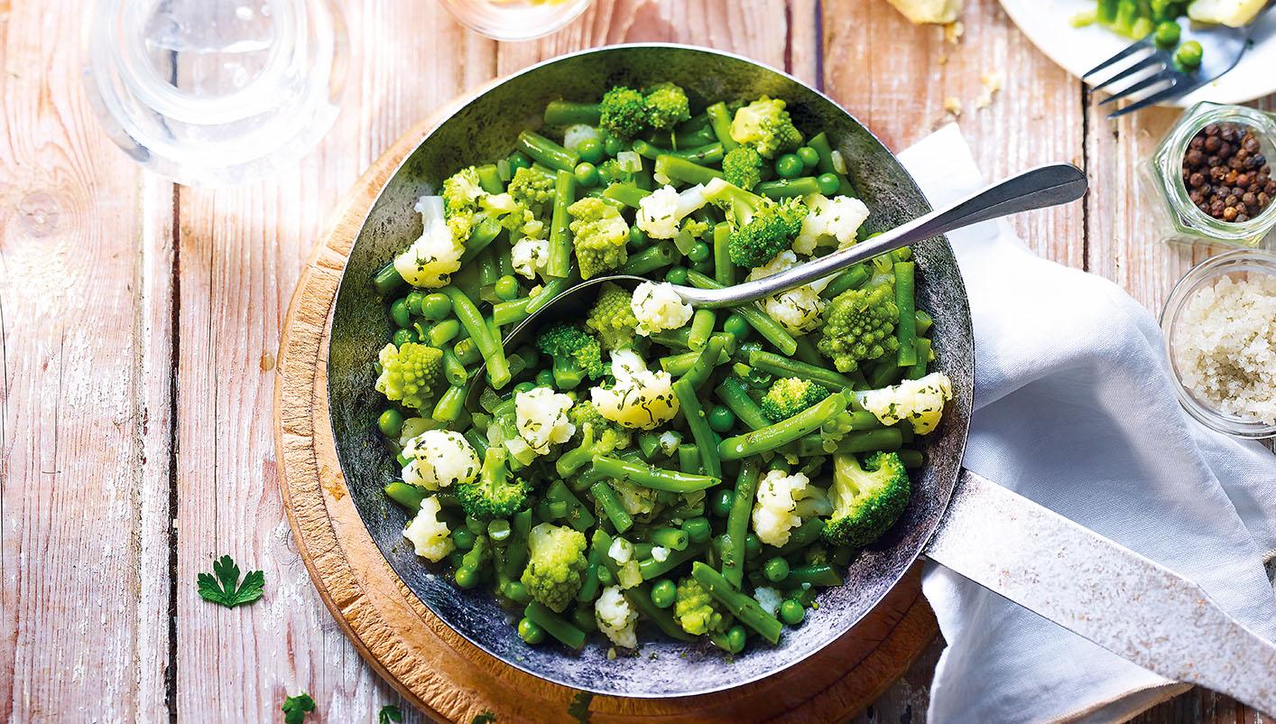 Poêlée cuisinée aux légumes verts
