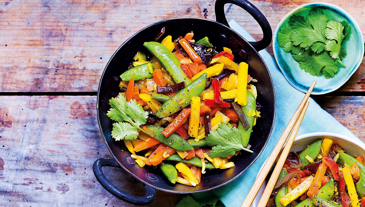 Poêlée cuisinée de légumes wok
