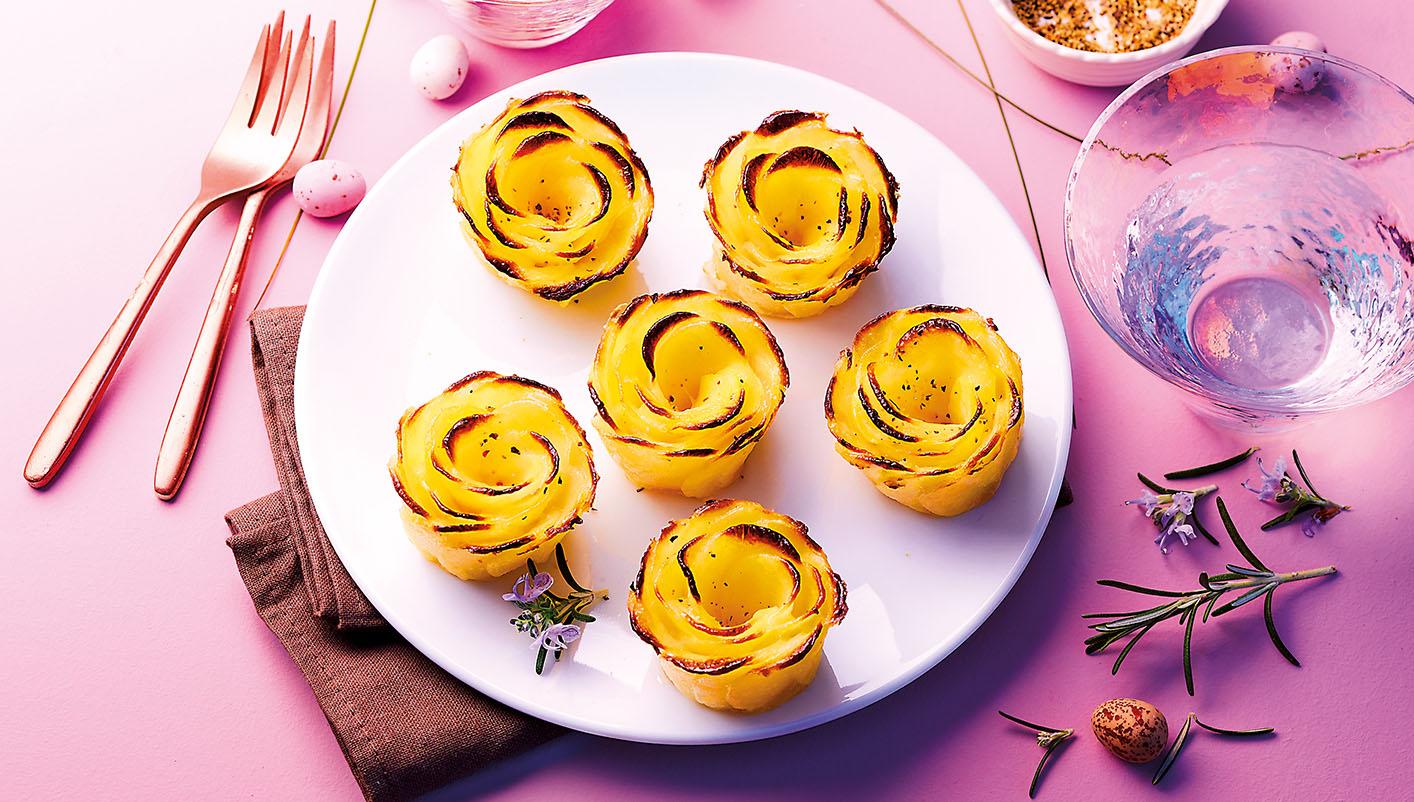 6 Roses de pommes de terre