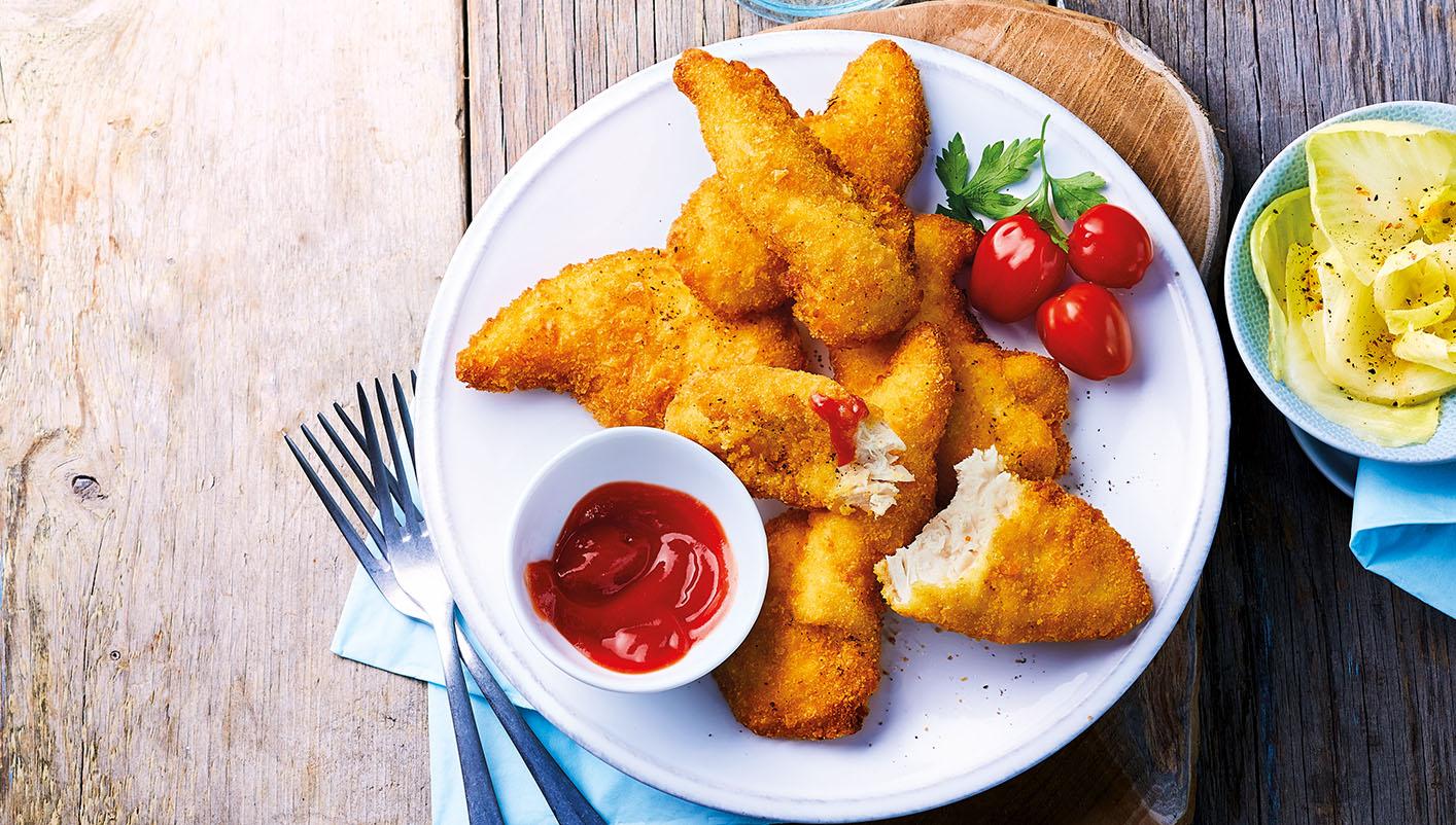 Aiguillettes de poulet panées croustillantes