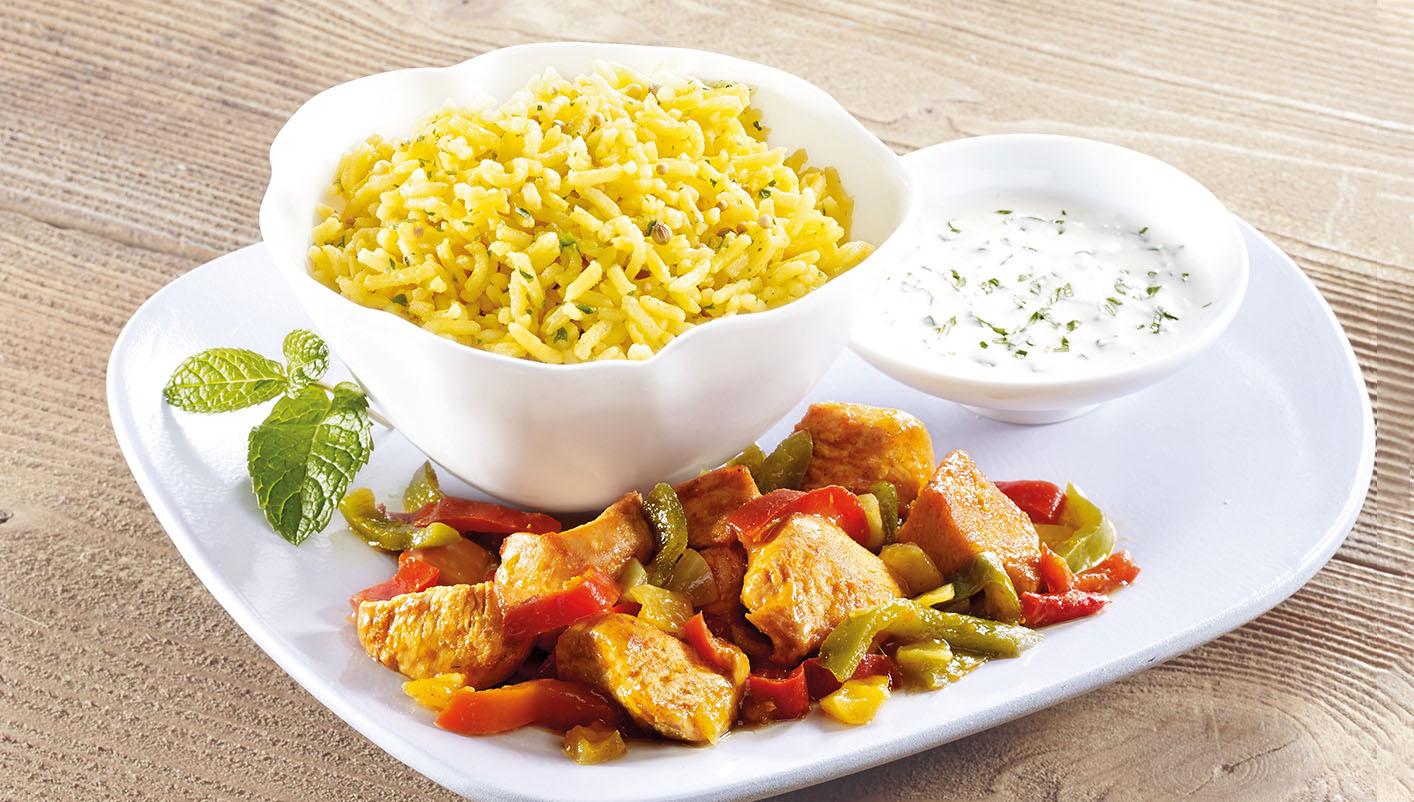 Poulet façon tandoori et riz basmati