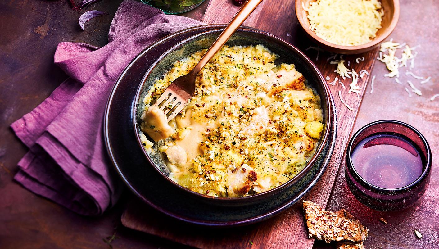 Gratin pommes de terre,poulet,tomme de Savoie IGP