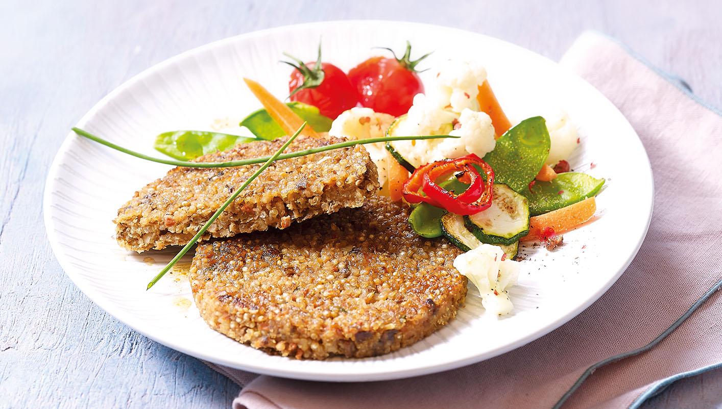 4 Burgers végétariens sans gluten