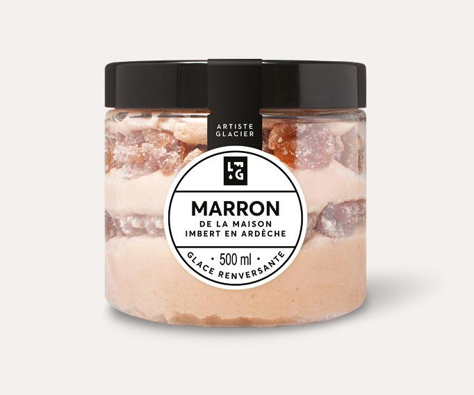 Crème glacée marron de la maison Imbert en Ardèche