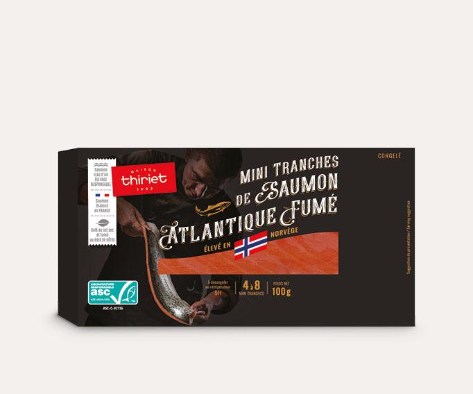 Mini tranches de saumon Atlantique fumé - Norvège
