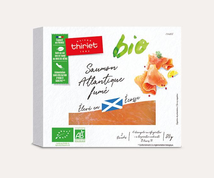 Saumon Atlantique fumé biologique - Ecosse - 2 tranches
