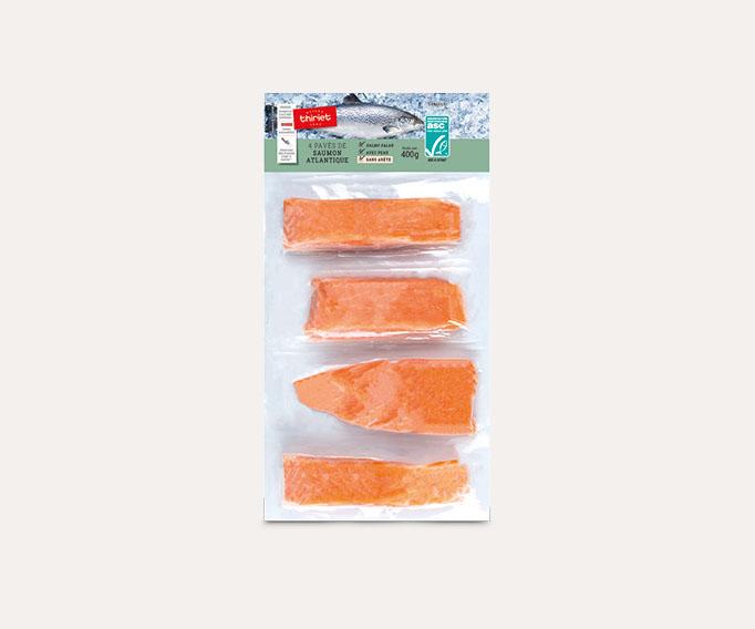 4 Pavés de saumon Atlantique avec peau Lot de 2 sachets
