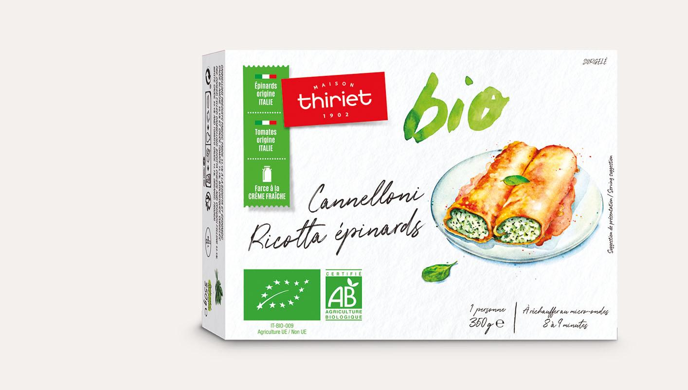 Cannelloni ricotta épinards biologiques