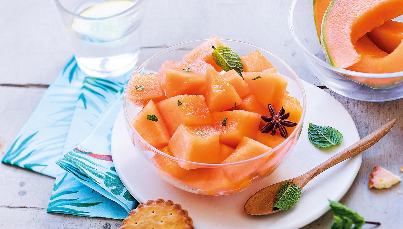 Melons en morceaux biologiques