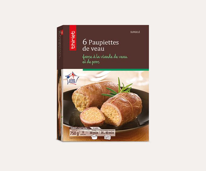 6 Paupiettes de veau, farce à la viande de veau et de porc