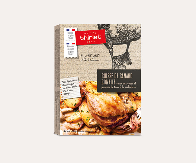 Cuisse de canard confite, pommes de terre à la sarladaise