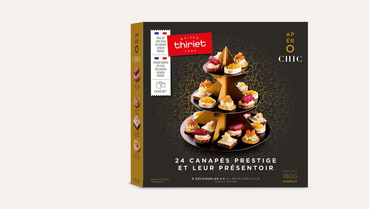 24 Canapés prestige et leur présentoir