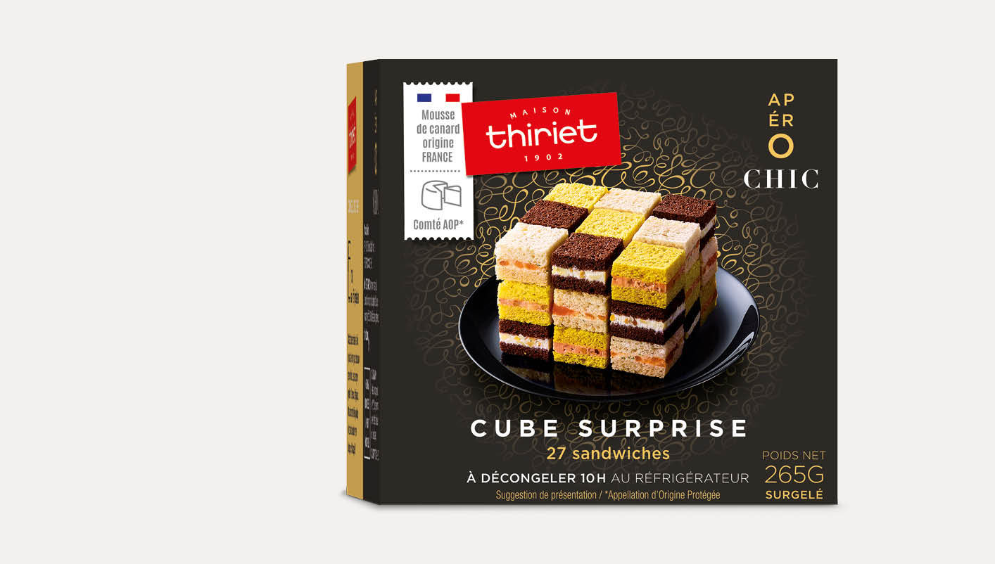 Cube surprise™ 27 sandwichs