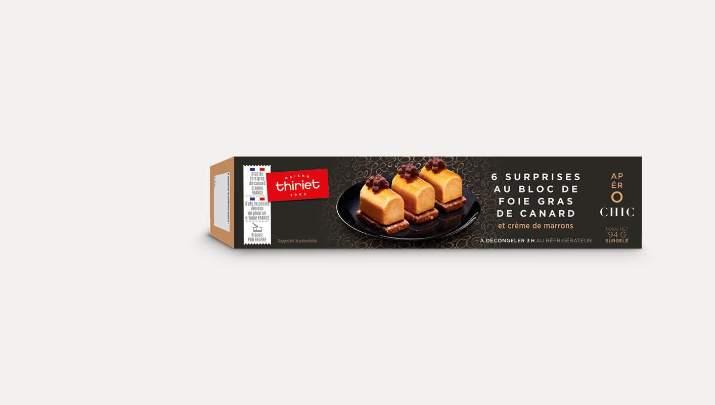6 Surprises au bloc de foie gras de canard et marron